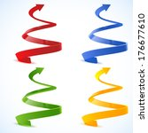 spiral arrow 3d.   Shutterstock .eps vector #176677610