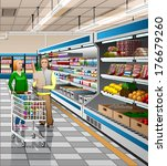 illustration of the supermarket   Shutterstock .eps vector #176679260