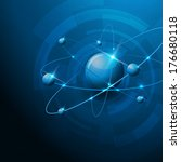 molecules abstract illustration ... | Shutterstock .eps vector #176680118