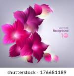 decorative floral background.... | Shutterstock .eps vector #176681189