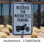 Reserved For Motorcycle Parkin...