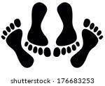 feet of couple having sex | Shutterstock . vector #176683253