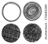 hand drawn grunge circles | Shutterstock .eps vector #176683280