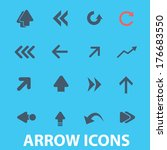 flat arrow  direction icons set ...