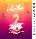 winning gifts lottery vector... | Shutterstock .eps vector #1766835800