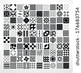 set different vector seamless... | Shutterstock .eps vector #176683754