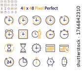 clock icon set for your web and ...