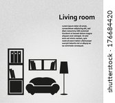 living room background vector... | Shutterstock .eps vector #176684420