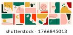 big set of colorful abstract... | Shutterstock .eps vector #1766845013