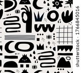 hand drawn various shapes and... | Shutterstock .eps vector #1766845016