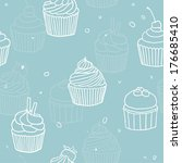 Vector Hand Drawn Cupcakes...