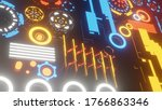 abstract colorful sci fi... | Shutterstock . vector #1766863346