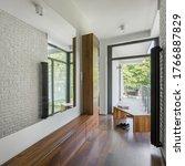 Home Corridor With Long Mirror...