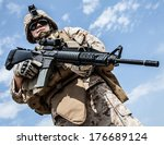 close up photo of us marine... | Shutterstock . vector #176689124