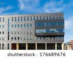 modern office building partly... | Shutterstock . vector #176689676