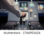 Electronic Panel. Pilot In The...