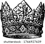 A Crown Of Henry Iv Sculptured...