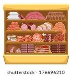 meat market. vector  | Shutterstock .eps vector #176696210