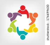 teamwork logo meeting 6. group... | Shutterstock .eps vector #176699630