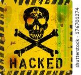 computer virus alert sign ... | Shutterstock .eps vector #176701274