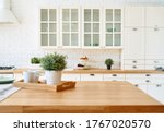 Kitchen Wooden Table Top And...