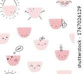 funny watermelon seamless... | Shutterstock .eps vector #1767026129