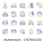 engineering line icons.... | Shutterstock .eps vector #1767031220