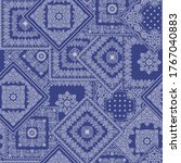 i made a bandana pattern design ... | Shutterstock .eps vector #1767040883