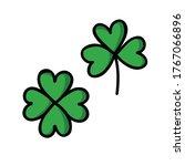 clover doodle icon  vector... | Shutterstock .eps vector #1767066896