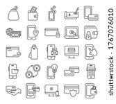 bundle of payment online set... | Shutterstock .eps vector #1767076010