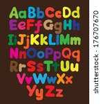 alphabet bubble colored hand... | Shutterstock . vector #176707670