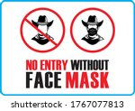 no entry without face mask....