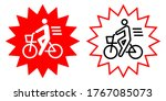 bicycle manner vector icon... | Shutterstock .eps vector #1767085073
