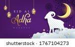 eid al adha mubarak the... | Shutterstock .eps vector #1767104273