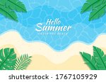 beautiful hello summer... | Shutterstock .eps vector #1767105929
