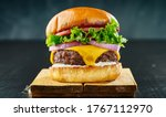 Thick cheeseburger with...