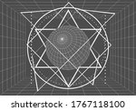 mystery  witchcraft  occult and ... | Shutterstock . vector #1767118100