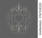 mystical geometry symbol.... | Shutterstock .eps vector #1767118133