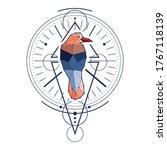 mystical geometry symbol.... | Shutterstock .eps vector #1767118139