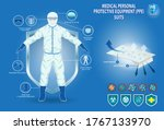 set of medical personal... | Shutterstock .eps vector #1767133970