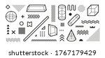 various geometric memphis... | Shutterstock .eps vector #1767179429
