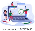 blogging and seo marketing...   Shutterstock .eps vector #1767179450