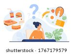 cartoon woman choosing between... | Shutterstock .eps vector #1767179579