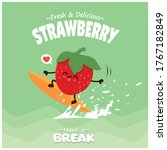 vintage fruit poster design...   Shutterstock .eps vector #1767182849