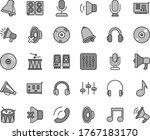 thin line gray tint vector icon ... | Shutterstock .eps vector #1767183170