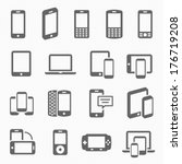 responsive design icons for... | Shutterstock .eps vector #176719208
