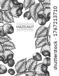 hand drawn sketch hazelnut... | Shutterstock .eps vector #1767213710