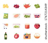 Set Of Icons Farm Products...