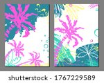 set of exotic tropical ...   Shutterstock .eps vector #1767229589