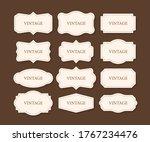 vintage frames set  clipart... | Shutterstock .eps vector #1767234476